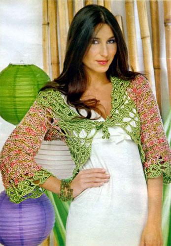 Описание: схема вязаного болеро для девочки на год.