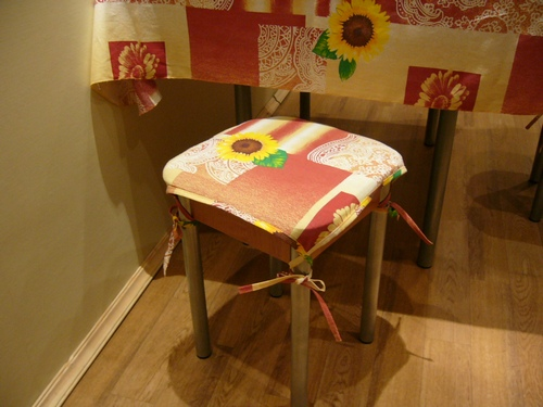 Подушки для стульев своими руками фото